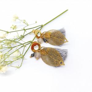 Kolczyki z chwostem Scandinavian Leaf