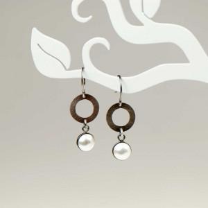 Kolczyki z perłami w kształcie koła a801