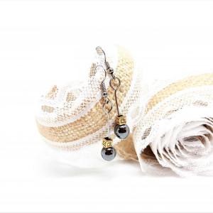 Kolczyki z serii blackgold z hematytów