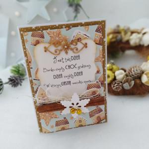 Kolęda w pierniczkach - kartka świąteczna