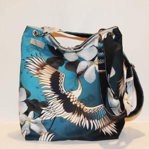 Kolorowa torba z żurawiem w stylu orientalnym