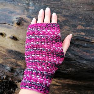 Kolorowe rękawiczki  bez palców, mitenki z włóczki