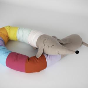 Kolorowy ochraniacz do łóżeczka łóżka wałek 08