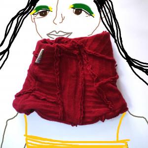 Komin bublik-szalik  Monochromatyczny/Czerwony