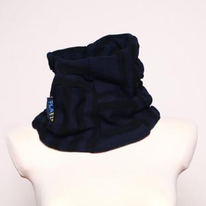 Komin bublik-szalik Niebieskie paski #platie_11805