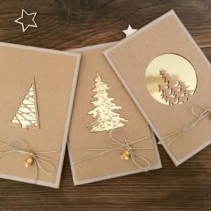 Komplet 3 kartek świątecznych #13