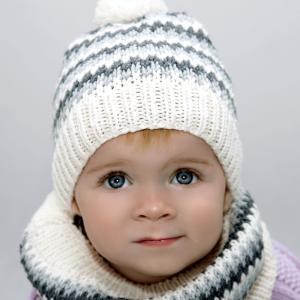 Komplet Alpejski Jasny Merynos Dziecięcy