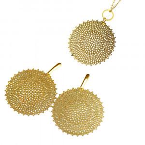 Komplet  ażurowy w złotym kolorze Selene c679