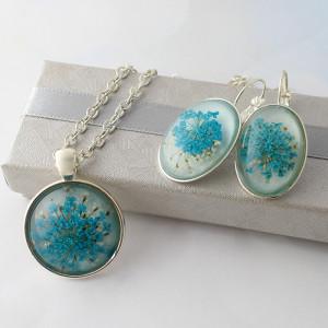 Komplet Biżuterii Aquatic Medalion i Kolczyki