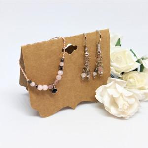 Komplet biżuterii bransoletka i kolczyki Light