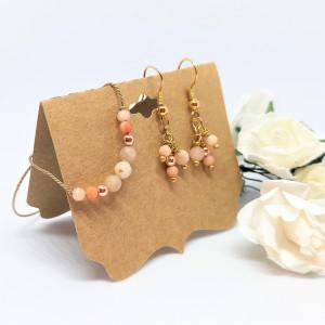 Komplet biżuterii bransoletka i kolczyki Peaches
