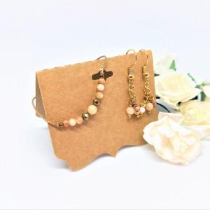 Komplet biżuterii bransoletka i kolczyki Safari