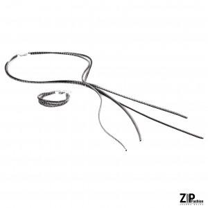 Komplet biżuterii bransoletka i naszyjnik