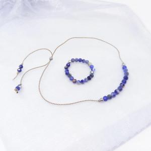 Komplet biżuterii bransoletka i pierścionek Blue