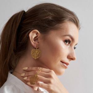Komplet biżuterii Feme w kolorze złota