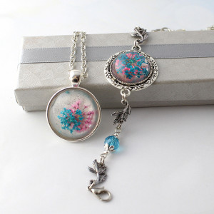 Komplet Biżuterii Frozen Medalion i Bransoletka