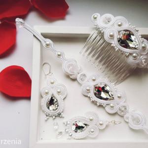 """Komplet biżuterii ślubnej z kolekcji """"Aurora"""""""
