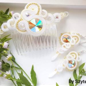 """Komplet biżuterii ślubnej z kolekcji """"Golden Dust"""""""