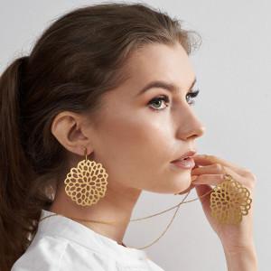 Komplet biżuterii w kolorze złota c671-klp