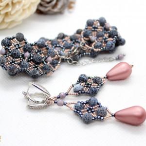 Komplet biżuterii z agatu ognistego