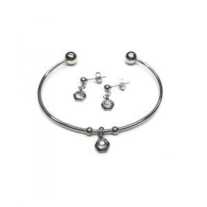 Komplet biżuterii z cyrkonią