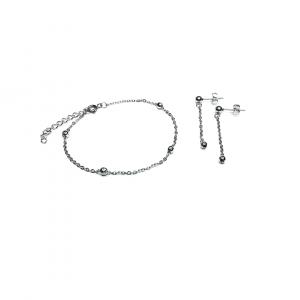 Komplet biżuterii z kuleczkami