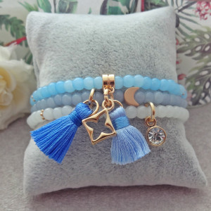 Komplet Bransoletek Pastel Baby Blue