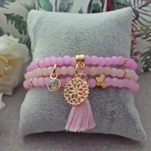 Komplet Bransoletek Pastel Baby Pink