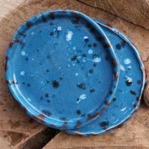Komplet ceramicznych talerzyków (c187)