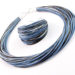 Komplet  lniany - Azuli