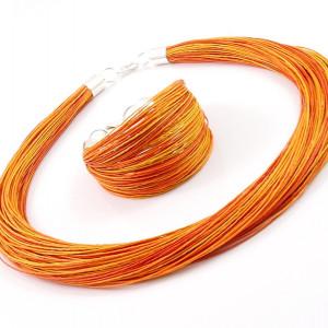 Komplet  lniany - Naranja