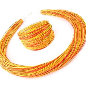 Komplet  lniany - Taronja