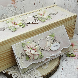Komplet na ślub- kartka + pudełko na wino 5