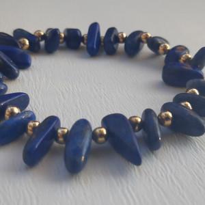 Komplet Naszyjnik + bransoletka Lapis Lazulii