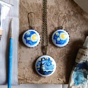 Komplet porcelanowy  - Gwiaździsta noc , van Gogh