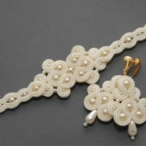 komplet ślubny biżuterii sutasz