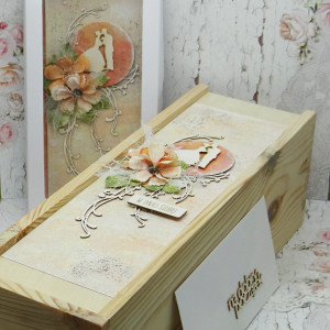 Komplet ślubny kartka+pudełko na wino+koperta 11