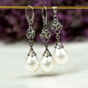 Komplet srebrny z perłami Seashell Liliana