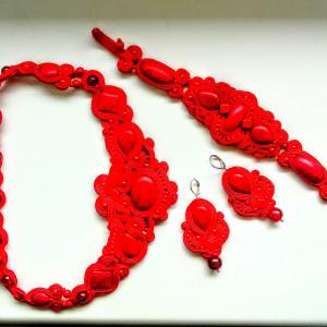 Komplet sutaszowy Red