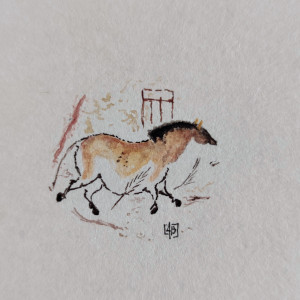 Koń z jaskini Lascaux, miniatura