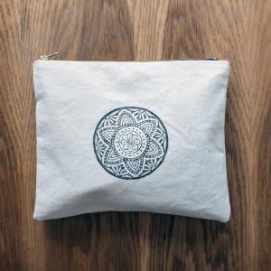 Kosmetyczka mała bawełniana - mandala