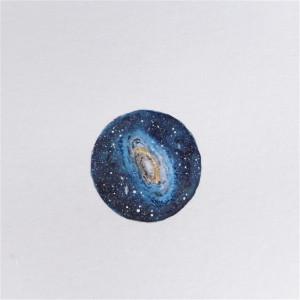 Kosmos, galaktyka, ręcznie malowane 2,5 cm !