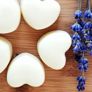 kostki do masażu - lawendowe serca 4 szt