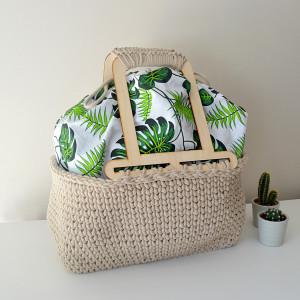 Kosz do ręki, piknikowy, na zakupy, na plażę