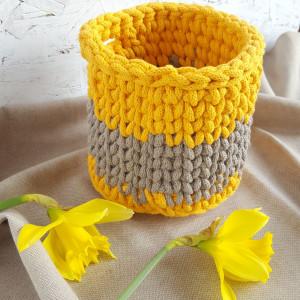 Koszyczek żółto-beżowy