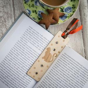 Kot drewno - zakładka do książki