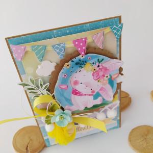 Króliczek - kartka na urodziny