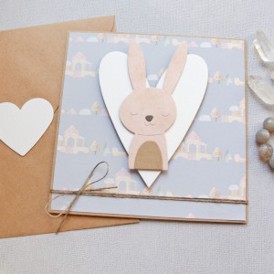 króliś gilbert - kartka na roczek, narodziny