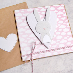 królisia Dorotka - kartka na roczek, narodziny