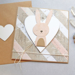 królisia gabrysia - kartka na roczek, narodziny